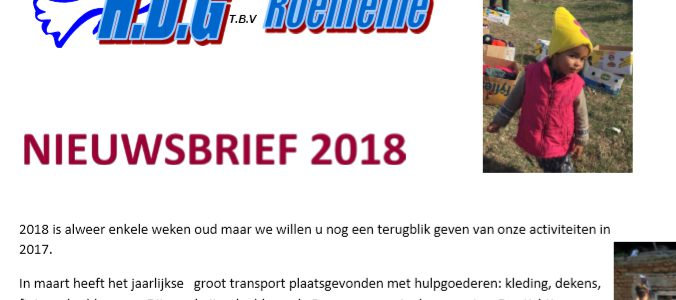 Nieuwsbrief 2018